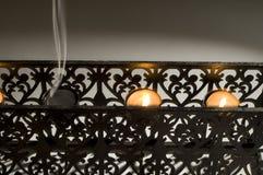 candel właściciela cień Obrazy Royalty Free
