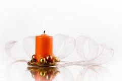 Candela arancione Fotografia Stock Libera da Diritti