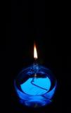 Candela blu dell'olio Fotografia Stock