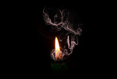 Candela Burning Immagine Stock
