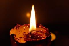 Candela Burning Fotografie Stock
