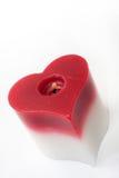 Candela del cuore Fotografia Stock