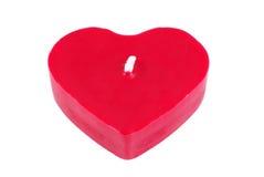 Candela del cuore (isolata) Immagini Stock Libere da Diritti