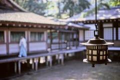 Candela del tempiale di Miyajima Fotografie Stock Libere da Diritti