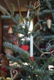 Candela dell'albero di Natale fotografia stock