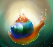 Candela della lumaca di fantasia illustrazione vettoriale