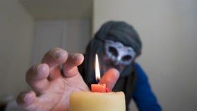Candela della maschera di carnevale di Venezia Immagini Stock Libere da Diritti