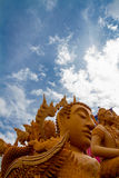 Candela delle sculture di Buddha bella Fotografia Stock Libera da Diritti