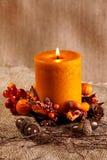 Candela di autunno fotografie stock