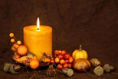Candela di autunno fotografia stock