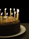 Candela di buon compleanno Immagine Stock
