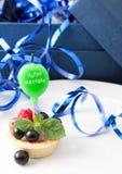 Candela di buon compleanno Immagine Stock Libera da Diritti