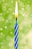 Candela di buon compleanno Fotografia Stock