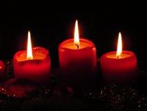 Candela di Christmast immagini stock libere da diritti