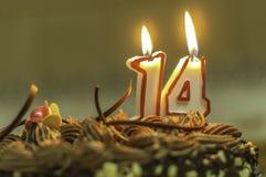Candela di compleanno fotografie stock