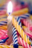 Candela di compleanno Immagine Stock