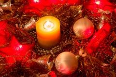 Candela di Natale Immagini Stock Libere da Diritti