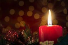 Candela di Natale Fotografia Stock
