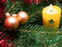 Candela di Natale Fotografia Stock Libera da Diritti
