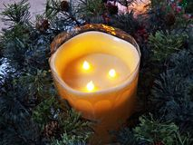 Candela di Natale Fotografie Stock Libere da Diritti