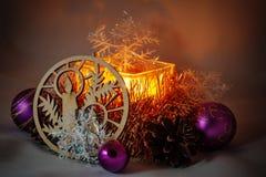 Candela di Natale Immagine Stock Libera da Diritti