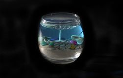 Candela di tema dell'oceano isolata fotografia stock libera da diritti