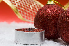 Candela festiva di nuovo-anno immagine stock libera da diritti