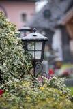 Candela/lanterna al cimitero, funerale, dispiacere fotografie stock