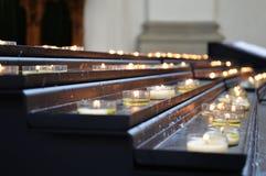 Candela nella chiesa di St Gallen Immagine Stock Libera da Diritti