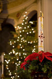 Candela Paschal a natale Immagine Stock