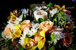 Candela per funerale fotografie stock libere da diritti