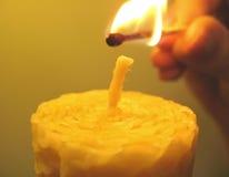 Candela per fuoco Immagini Stock Libere da Diritti