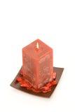 Candela profumata rossa Fotografie Stock