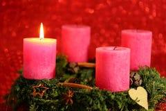 Candela rosa Fotografia Stock Libera da Diritti
