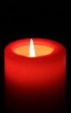 Candela rossa 01 Fotografie Stock