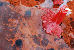 Candela rossa Fotografia Stock