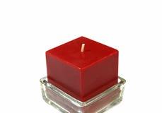 Candela rossa Fotografie Stock