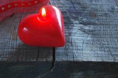 Candela rossa Fotografie Stock Libere da Diritti