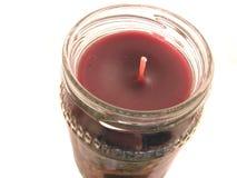 Candela rossa del vaso Immagine Stock Libera da Diritti