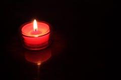 Candela rossa dell'indicatore luminoso del tè Fotografie Stock