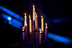 Candelabra Candles Stock Photo