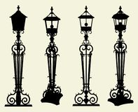 Candelabra Street Light Vector 01 Royalty Free Stock Photo