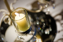Candelabra table decoration Royalty Free Stock Photography