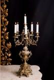 Candelabro con las velas, estilo retro de lujo Fotografía de archivo