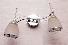 Candelabro da lâmpada de parede Foto de Stock Royalty Free
