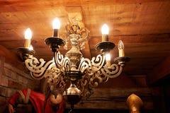 Candelabro de cobre de bronze clássico do vintage Imagem de Stock