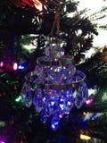 Candelabro de cristal azul Foto de Stock