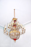 Candelabro de cristal velho. Imagem de Stock
