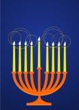 Candelabro de Hanukkah ilustração stock