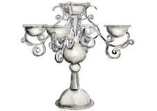 Candelabro de prata ilustração stock